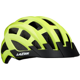 Lazer Compact Deluxe Cykelhjälm flash yellow